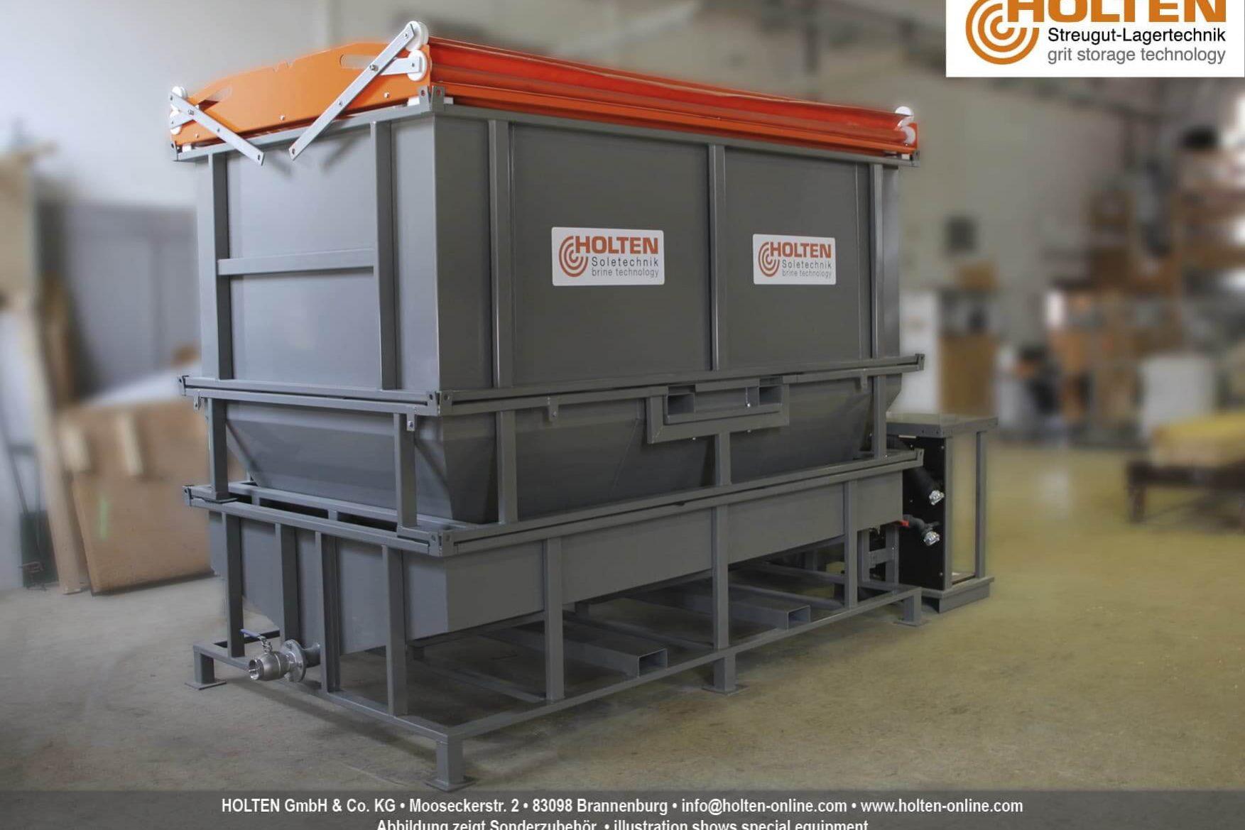 Vollständig aufgebauter Soleerzeuger B6 in einer Fertigungshalle