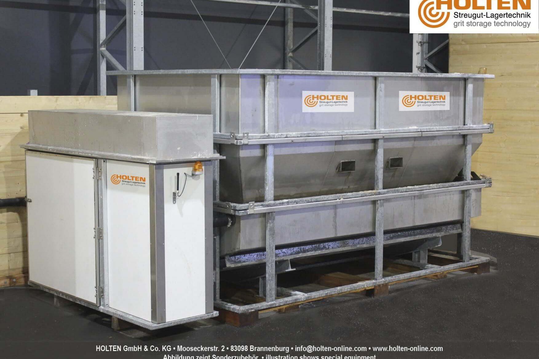 Vollständig aufgebauter Soleerzeuger B6 in einem Firmengebäude